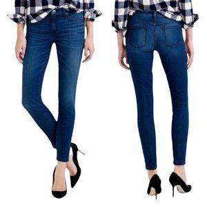 J Crew Women Size 26 Medium Wash Mid Rise Toothpick Skinny Denim Jeans